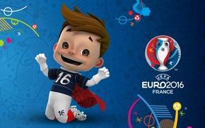 Картинка логотип, талисман, UEFA, euro 2016, евро 2016, Супер Виктор