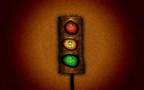 Картинка свет, красный, зеленый, светофор