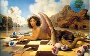 Картинка water, mountain, Ilene Meyer, Aria for a Siren
