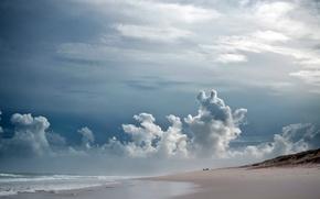 Обои море, небо, пейзаж, берег