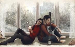 Картинка Гитара, Art, Quantic Dream, Game, Farinhate