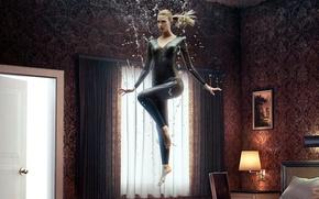 Картинка girl, series, window, Australian, blonde, lamp, thigh, 2015, tv series, American series, room tables, Emma …