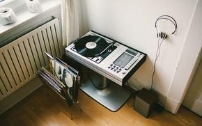 Картинка music, record, vinyl, player, headphone, record player, vinyl player