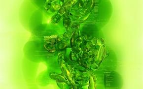 Обои прозрачный, зеленый, свечение