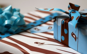 Картинка праздник, ленточки, коробки, летны, упаковка, праздничные обои