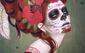 Картинка Мрак, Яркая, Смерть, Sylvia Ji, Сильвия Джи, Día de los Muertos