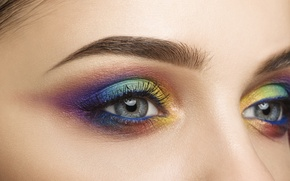 Картинка colors, style, eyes, makeup