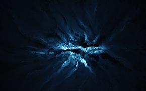 Картинка lights, white, black, Blue, effect