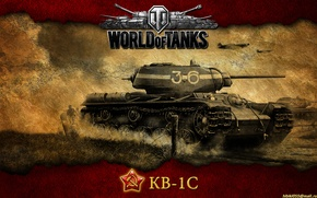 Картинка танк, СССР, танки, WoT, World of Tanks, Тяжёлый танк, КВ-1С