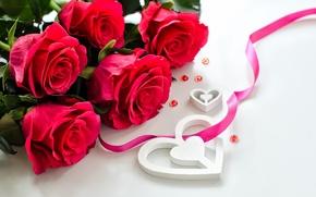 Обои цветы, розы, лепестки, любовь, valentine's day