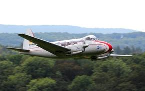 Картинка пассажирский, De Havilland, Dove, DH.104, самолет-моноплан, ближнемагистральный, британский