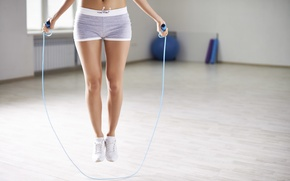 Картинка fitness, gym, slippers, aerobic, jump rope
