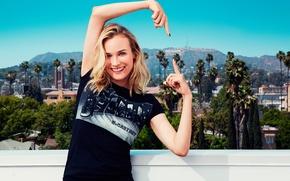 Картинка улыбка, Hollywood, жест, Diane Kruger