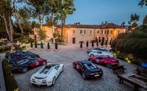 Обои вилла, Bugatti, Veyron, бугатти, вейрон, комбо, Grand Sport, 16.4, combo, willa