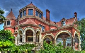 Картинка USA, США, музей, архитектура, Texas, Техас, architecture, Galveston, Галвестон, Moody Mansion Museum