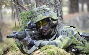 Картинка оружие, солдат, Swedish Army