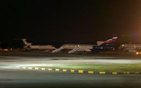 Картинка Россия, Аэропорт, Пулково, Ту-154, Аэрофлот, Туполев