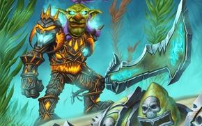 Картинка броня, гоблин, wow, world of warcraft, рыцарь смерти, dead knight