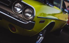 Картинка классика, Dodge Challenger, передок, Додж Челенжер
