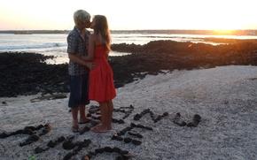 Картинка море, любовь, поцелуй, дух, мятежный, луисано, лопилато