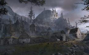 Картинка Девушка, Горы, Снег, Арт, Tomb raider, Lara croft, Сибирь, Rise of the Tomb Raider