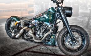 Картинка дизайн, стиль, фон, HDR, мотоцикл, форма, байк, Harley-Davidson, драгстер