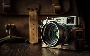 Картинка макро, фон, камера, Fuji X100T