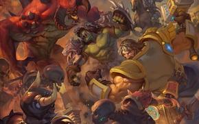 Картинка starcraft, diablo, warcraft, Zeratul, Heroes of the Storm, Rehgar, Uther