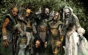 Обои группа, монстры, маски, лорди, lordi