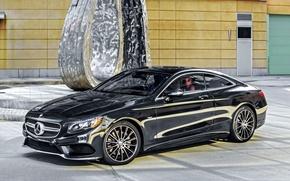 Картинка Mercedes-Benz, Black, 2014, AMG, S-Class, черный, мерседес, S 550, амг, C217