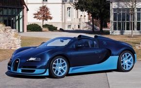 Обои bugatti veyron 16.4 grand sport vitesse, кабриолет
