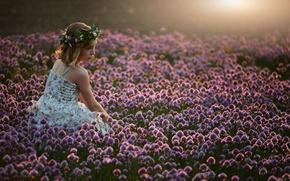 Картинка девочка, настроение, природа