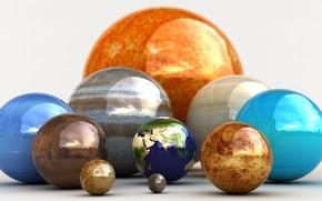Обои Шары, Our Happy Family, Наши Планеты, Planets, Планетки