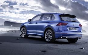 Обои GTE, 2015, Volkswagen, фольксваген, Tiguan, концепт, тигуан, Concept 2015