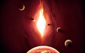Картинка space, cosmos, planets