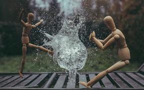 Картинка взрыв, креатив, волна, человек, всплеск, человечки, фотограф, деревянный, пузырь, photography, photographer, ударная, водный, ikea, David …