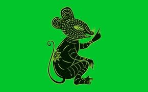 Картинка мышь, зодиак, Zune