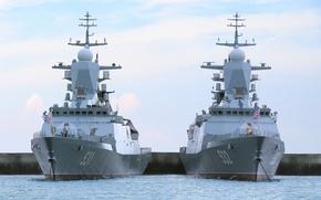 Обои причал, ВМФ, России, корветы