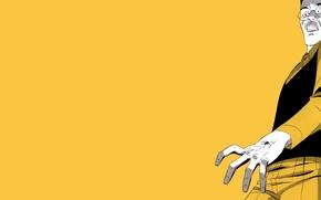 Картинка рука, паук, очки, желтый фон, комикс, Marvel Comics, Spider-Man, Peter Parker, Питер Паркер, Человек-Паук, Марвел