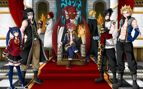 Картинка fire, game, anime, fairy, asian, manga, Wendy, witch, japanese, Fairy Tail, Natsu Dragneel, Gajeel Redfox, ...