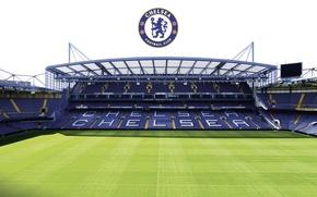Картинка wallpaper, sport, logo, stadium, football, England, Stamford Bridge, Chelsea FC