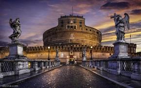 Картинка Рим, Италия, Castel Sant'Angelo, Замок Святого Ангела, Castellum Sancti Angeli