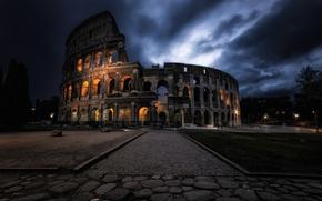 Картинка ночь, город, Dark Coliseum