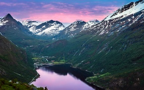 Картинка горы, Норвегия, Norway, фьорд