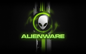 Картинка надпись, текстура, голова, брэнд, alienware