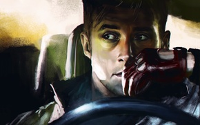 Картинка лицо, актер, мужчина, перчатка, Drive, Драйв, Ryan Gosling, Райан Гослинг