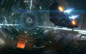 Картинка космос, станция, звездолет