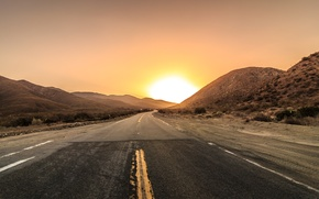 Обои road to the sun, fence, горы, дорога, забор, mountains, дорога к солнцу, road