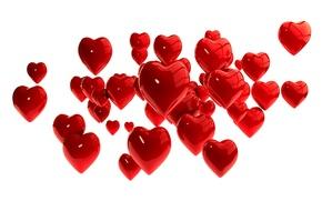 Картинка сердечки, red, hearts