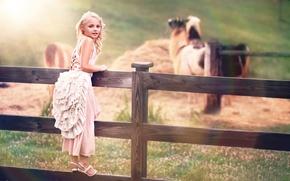 Картинка забор, платье, девочка, child photography